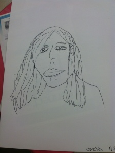 And lastly, my neighbor's portrait of me. Ha