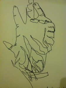Blind Contour of Hand
