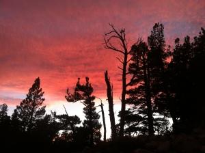 Sunset above Star Lake
